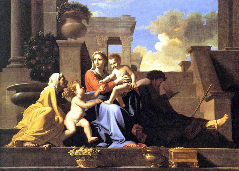 Nicolas Poussin - The Holy Family on the Steps, National Gallery of Art, DC, 1648.
