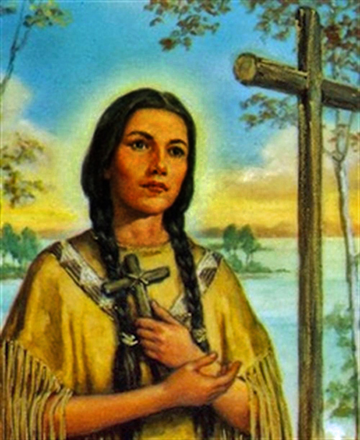 St. Kateri Tekakwitha, the Lily of the Mohawks.