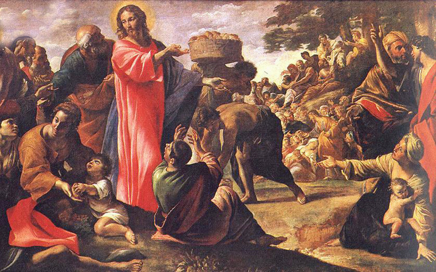 Giovanni Lanfranco of Terenzo, Italy - The Multiplication of the Loaves and Fish, National Gallery of Dublin, Ireland, 1620.