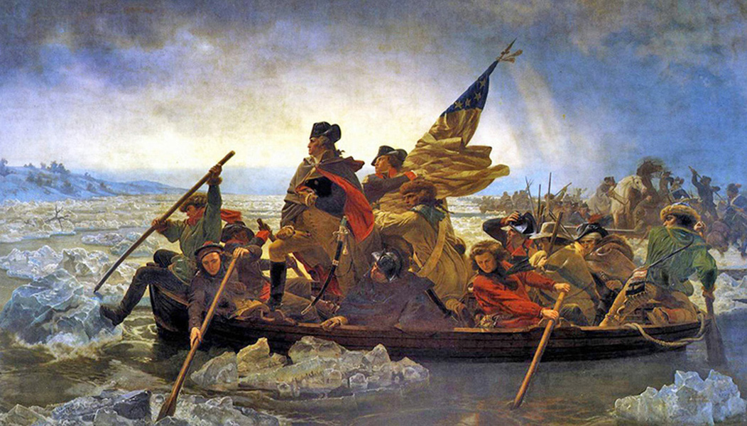 Emanuel G Leutze - George Washington crossing the Delaware River, 1851, Courtesy of Metropolitan Museum of Art, New York.