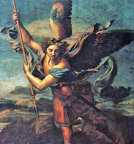 Raphael Sanzio of Urbino, Italy - Michael the Archangel, Musée du Louvre, Paris, 1518.