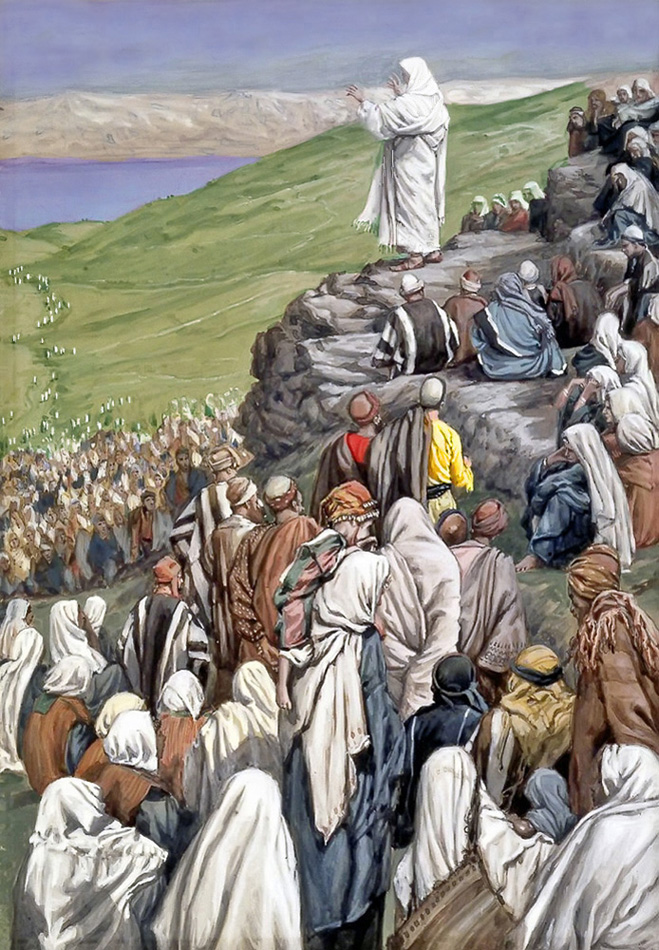 JJ Tissot - Jesus at the Sermon on the Mount.