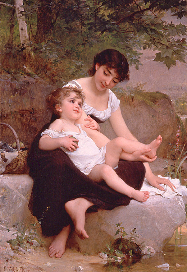 Emile Munier - Mother and Child, Paris, 1892.