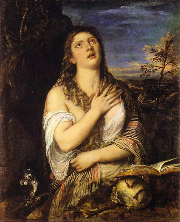 Tiziano Vecelli of Venice, known as Titian - Penitent Mary Magdalene, The Hermitage, St. Petersburg, 1565.