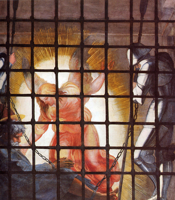 Raphael - The Angel Rescues Peter From Jail