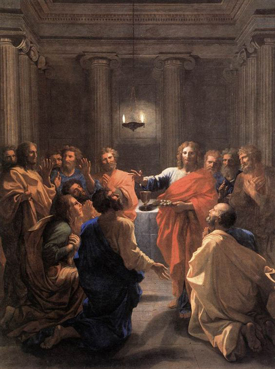 Nicholas Poussin - Institution of the Eucharist, Louvre, Paris, 1640.