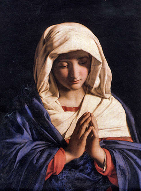 Giovanni Battista Salvi, known as Sassoferrato - The Virgin in Prayer, National Gallery, London, 1645.