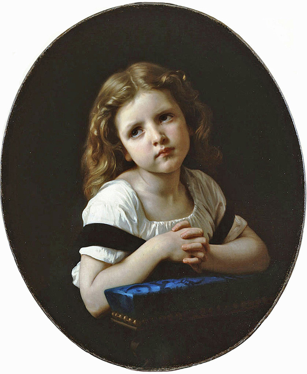 William Bouguereau - The Prayer, La Rochelle, France, 1865.