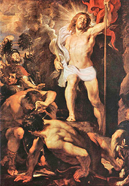 Pieter Paul Rubens - The Resurrection of Jesus Christ, Cathedral of Antwerp, Belgium, 1612.
