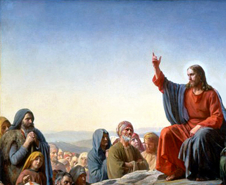 Carl Heinrich Bloch - Jesus at the Sermon on the Mount, Copenhagen, Denmark, 1872.