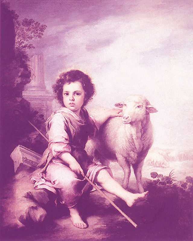 Bartolome Esteban Murillo of Seville, Spain - Christ Child the Good Shepherd, Museo del Prado, Madrid, 1660.