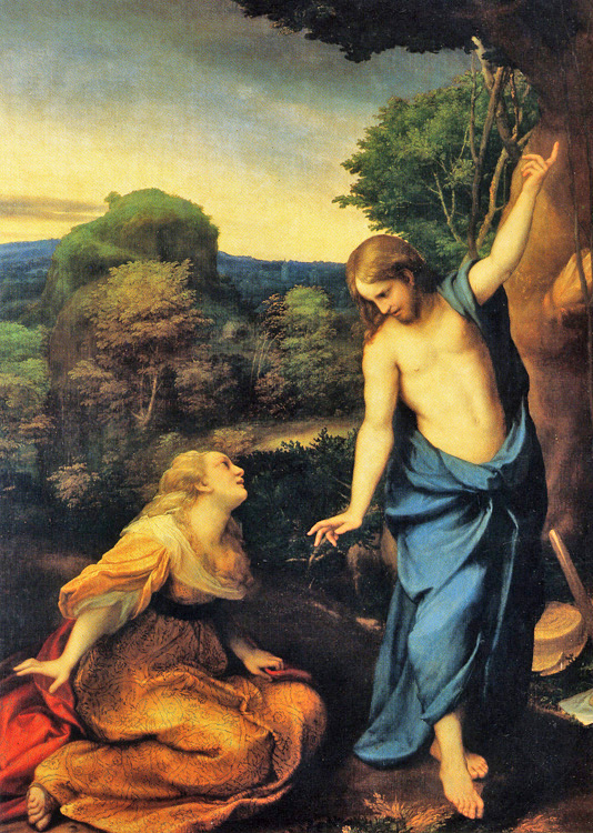 Antonio Allegri, known as Correggio - Noli Mi Tangere - John 20:17, Jesus speaks to Mary Magdalene following His Resurrection, El Prado, Madrid, 1525.