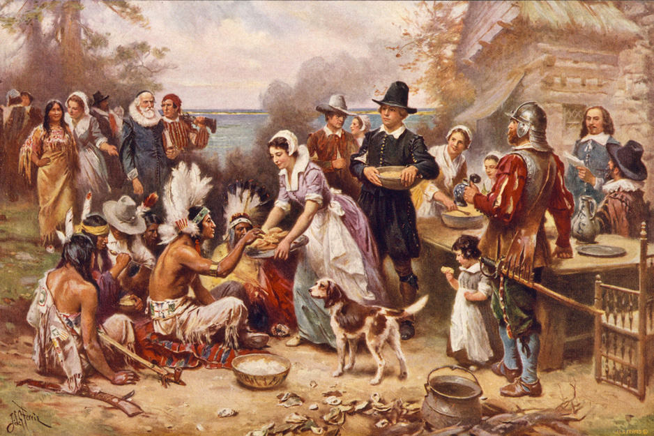 Jean Leon Gerome Ferris - The First Thanksgiving, Courtesy of the Library of Congress, 1919.