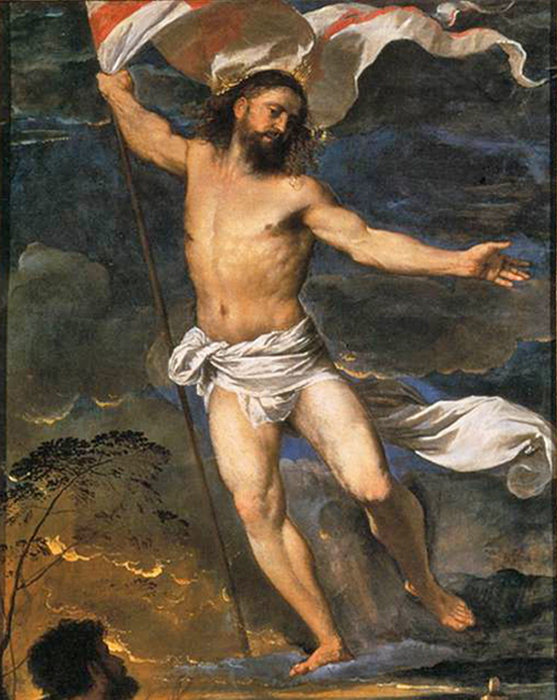 Titian - Resurrection of Christ, Averoldi Polyptych, Basilica of Santi Nazaro e Celso, Brescia, Italy, 1520.