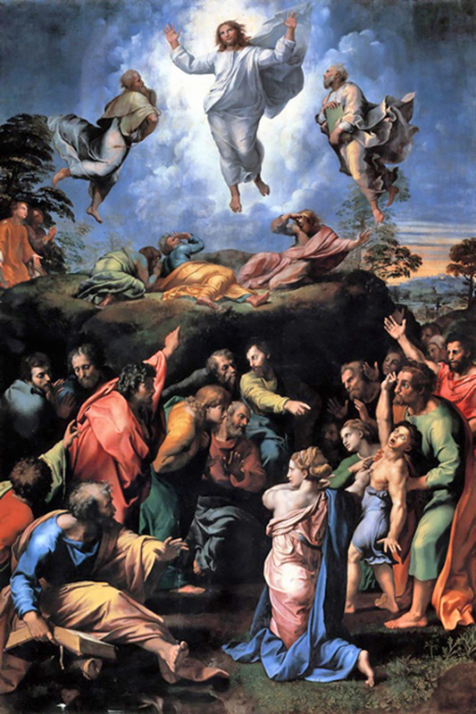 Raphael - The Transfiguration of Jesus, 1579, Basilica of St. Peter, Vatican, 1519.